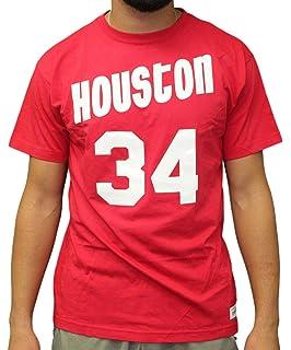 1cdbc25c96d9 Mitchell   Ness Hakeem Olajuwon Houston Rockets NBA Men s Player S S ...