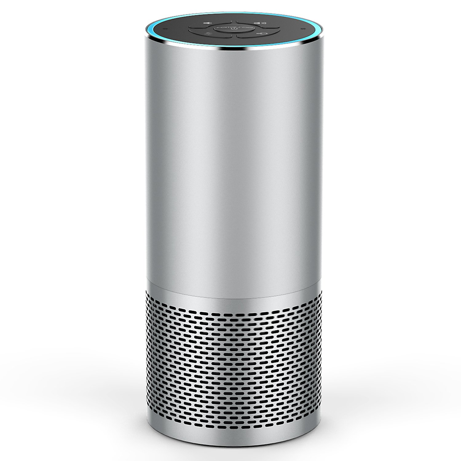 Smart Speaker Portable WiFi and Bluetooth Speaker with Alexa Voice Control - Silver