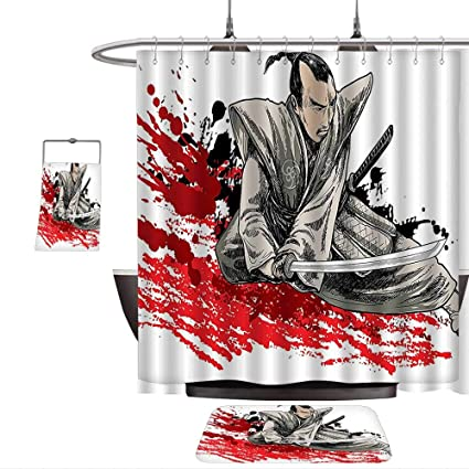 Amazon.com: Home setJapanese Decor A Warrior Holding a ...