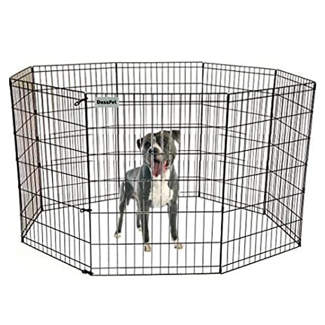 DazzPet Dog Pen Puppy Playpen | 36u0026quot; Height Indoor Outdoor Exercise  Outside Play Yard |