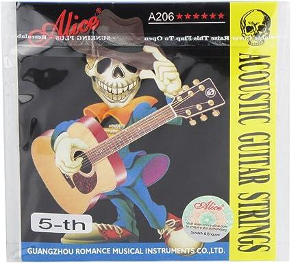 Alice A206 – Cuerdas para guitarra acústica de acero inoxidable ...