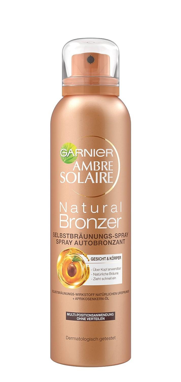 Garnier Ambre Solaire - Spray autoabbronzante per un'abbronzatura naturale con estratto di albicocca (testato dermatologicamente), 1 confezione da 150 ml 91454
