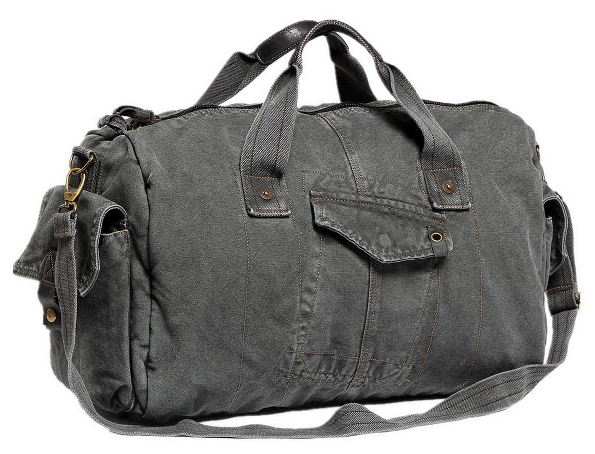 Vagabond Traveler 20'' Large Canvas Travel Duffel Bag C71.GRY