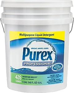 Dial 1468876 Professional Purex Mountain Breeze Multipurpose Liquid Detergent, 5 Gallon Pail, 426 Loads