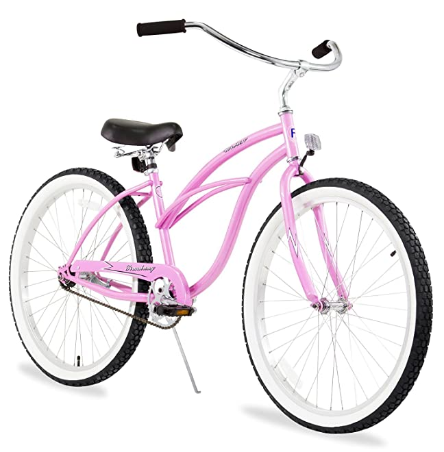 Firmstrong Urban Lady Beach Cruiser Bicycle with Pink Color