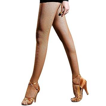 ab5c22000 Pitping Latin Ballroom Dance Fishnet Tights Stockings for Dancer Seamless  Tights Ballet (Dark Coffee)