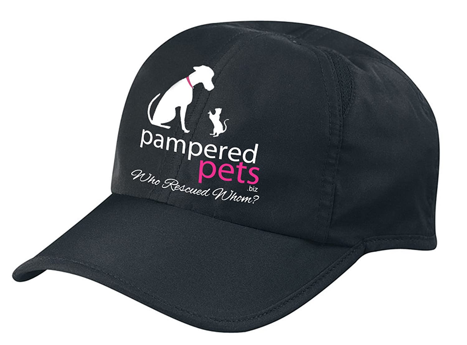 Pampered Pets 709112724490 Polyester Embroidered Dry Cap, Black