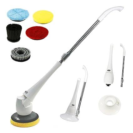 Cepillo de tocador eléctrico Turbo Scrub 2 en 1 Baño de baño Powered Cleaner WC Scrubber