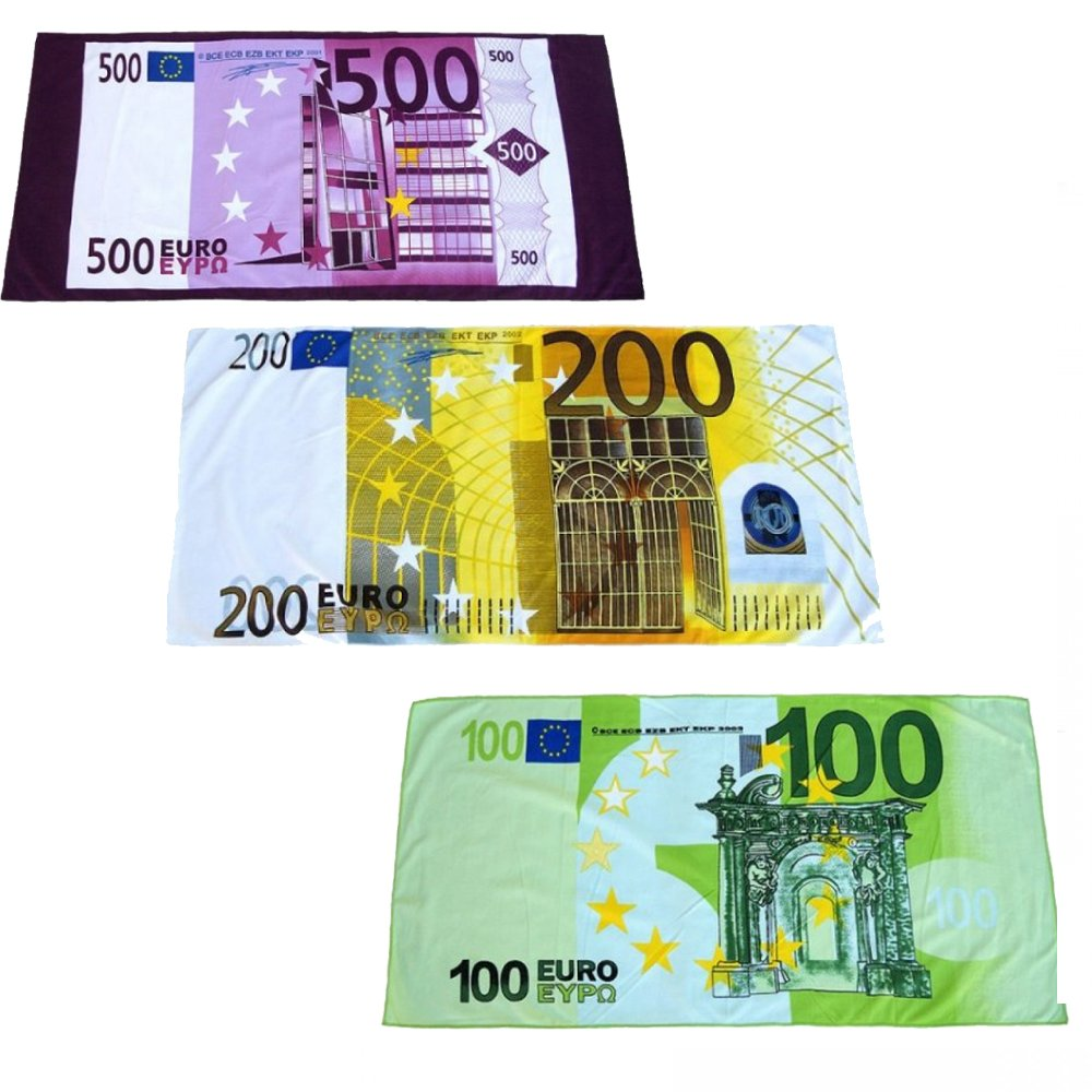 Strandtuch Euro Schein Badetuch Saunatuch Handtuch Eurostrandtuch