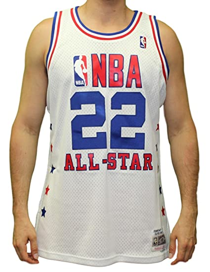 1b79a11a6 Image Unavailable. Image not available for. Color  Mitchell   Ness Clyde  Drexler 1989 NBA All Star West Swingman White Jersey Men s