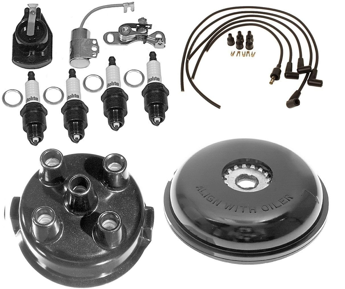 Complete Tune Up Kit for Ford 8N Tractor w/ Side Mount Distributor SN# 263844/UP by Aftermarket