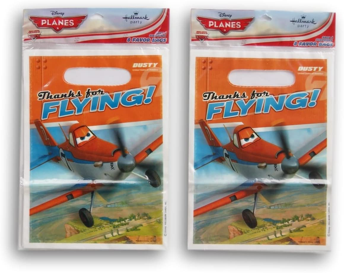 Planes 16 Party Favor Loot Bags SG/_B0758GCLKD/_US Party Supply