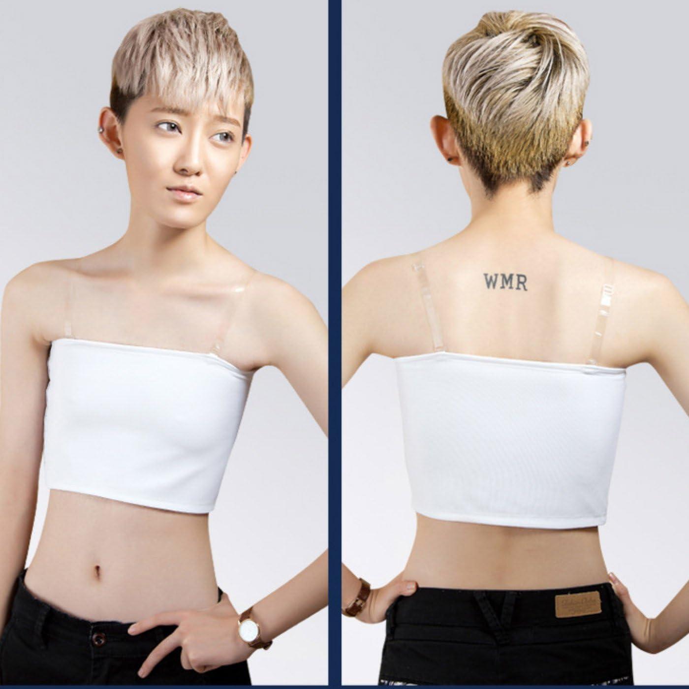 Lesbian Body Shaper Corset Vest Transgender Strapless Buckle Short Binder Tops
