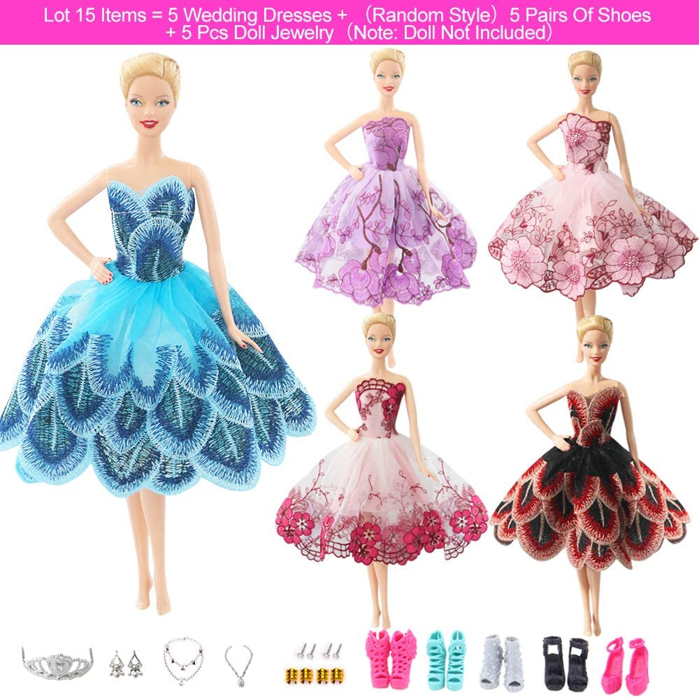 New Style Doll Accessory Sling Dress Lace Long Party Gown for 18 Inch Dolls