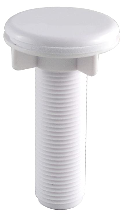 LDR 501 6415WT Faucet Hole Cover, 1/2-Inch Threaded Shank, White ...