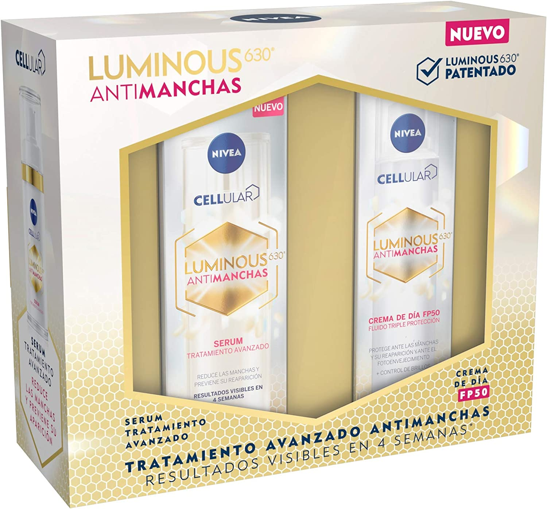 NIVEA Pack Luminous Antimanchas Tratamiento Avanzado, caja de regalo mujer