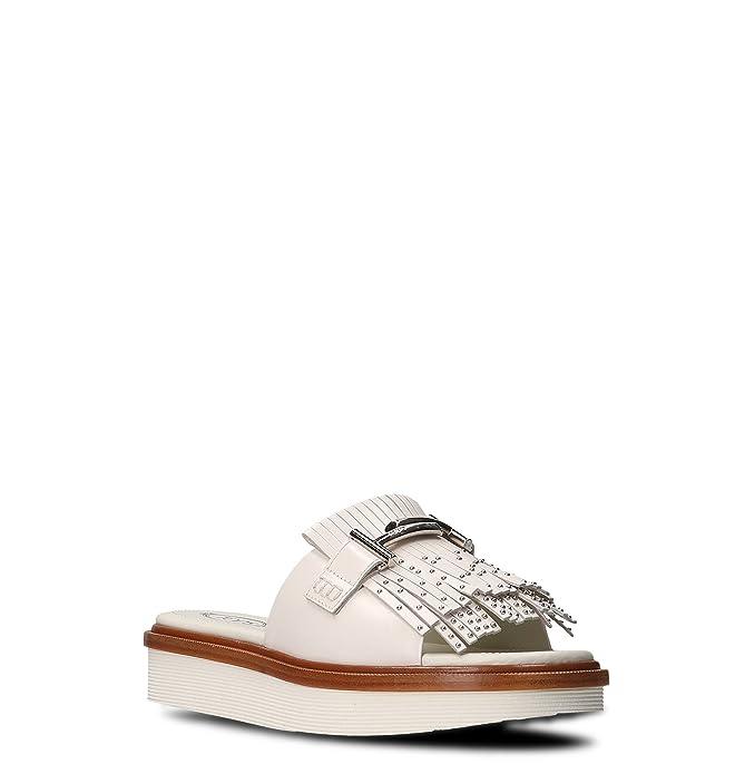 Tod s Damen XXW23A0Y500GOCB001 Weiss Leder Sandalen  Amazon.de  Schuhe    Handtaschen d7b9bd62cd