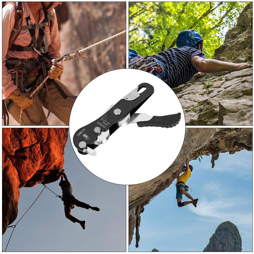 10 Kletterausr/üstung f/ür Seile 12 mm Abseilsicherung AYNEFY Kletter-Absteiger Outdoor-Kletter-Stopp Absteiger