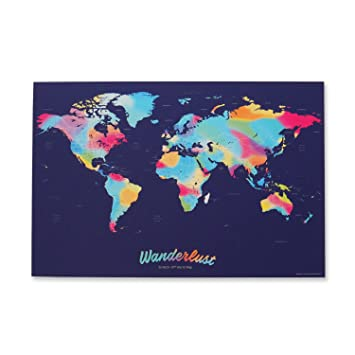 Amazon wanderlust scratch off world map travel art poster wanderlust scratch off world map travel art poster with over 214 countries gumiabroncs Image collections