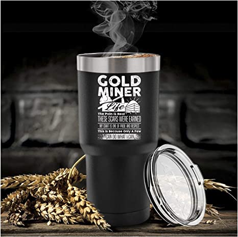 When In Doubt Choose Gold Mining Tumbler Travel Mug 30oz Stainless Black Funny Gold Mining Gift Cute Present For Gold Mining Lovers