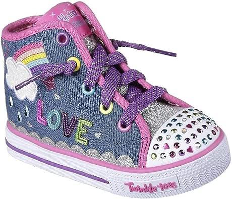 Skechers 10874N Toddlers Twinkle Toes: Shuffles - Sparkle Skies Shoes