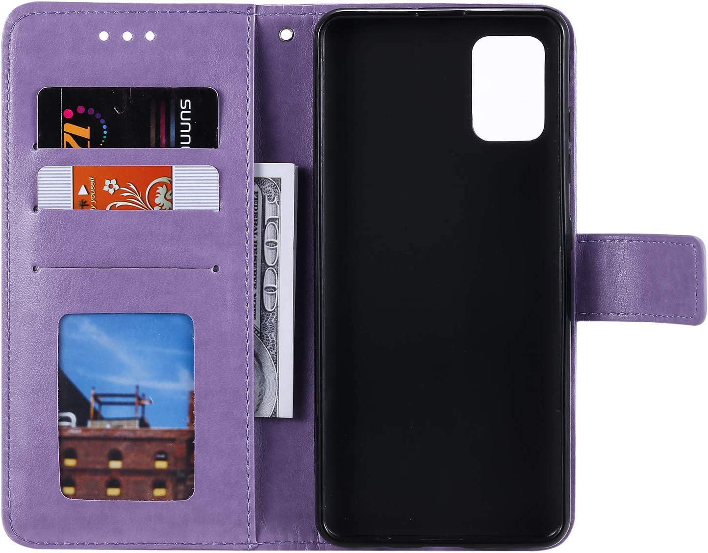 NEXCURIO Wallet Case for Galaxy A51 with Card Holder Side Pocket Kickstand Shockproof Leather Flip Cover Case for Samsung Galaxy A51 NEHHA080424 Blue