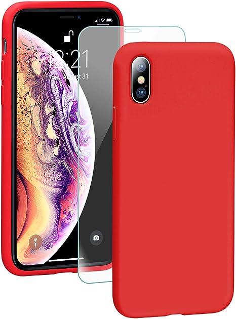 Cover iPhone XS Max Custodia Antiurto Gomma Gel Silicio Liquido