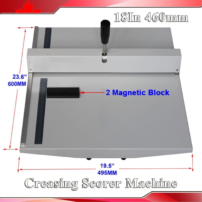 Manual 18'' 460mm Scoring Paper Creasing Machine Scorer Creaser + 2magnetic Block