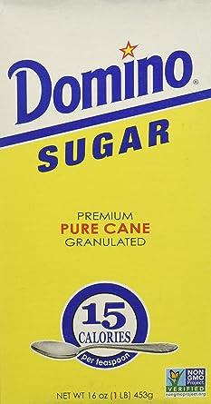 Domino caña de azúcar, Pure granulada, 2 libras (2 x 1Lb ...