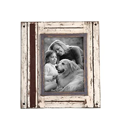 Foreside Home & Garden FFRD06211 5X7 Rustic Wood Frame White