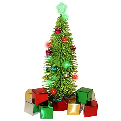 Image Unavailable - Amazon.com: Glowmaker 23 Piece DIY Light Up Mini Christmas Tree Set