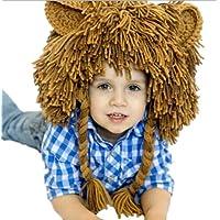 toyobuy bebé león Handcrafted Hip Hop peluca