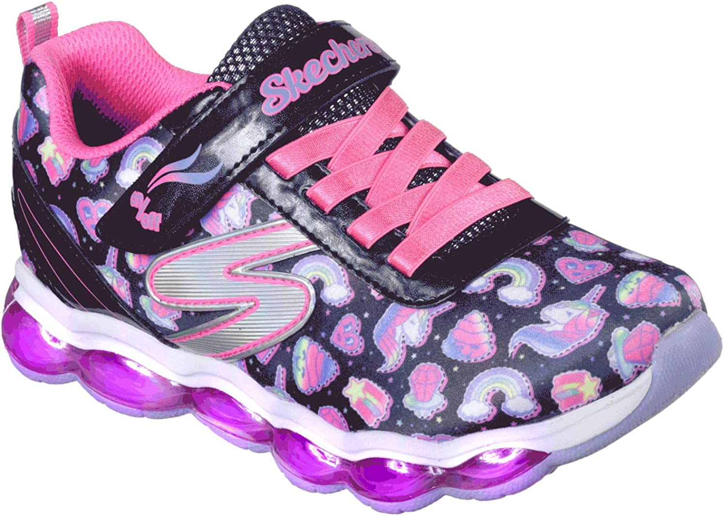 Skechers Kids' Glimmer Lights Sparkle Dreams Sneaker: Amazon IcuOB