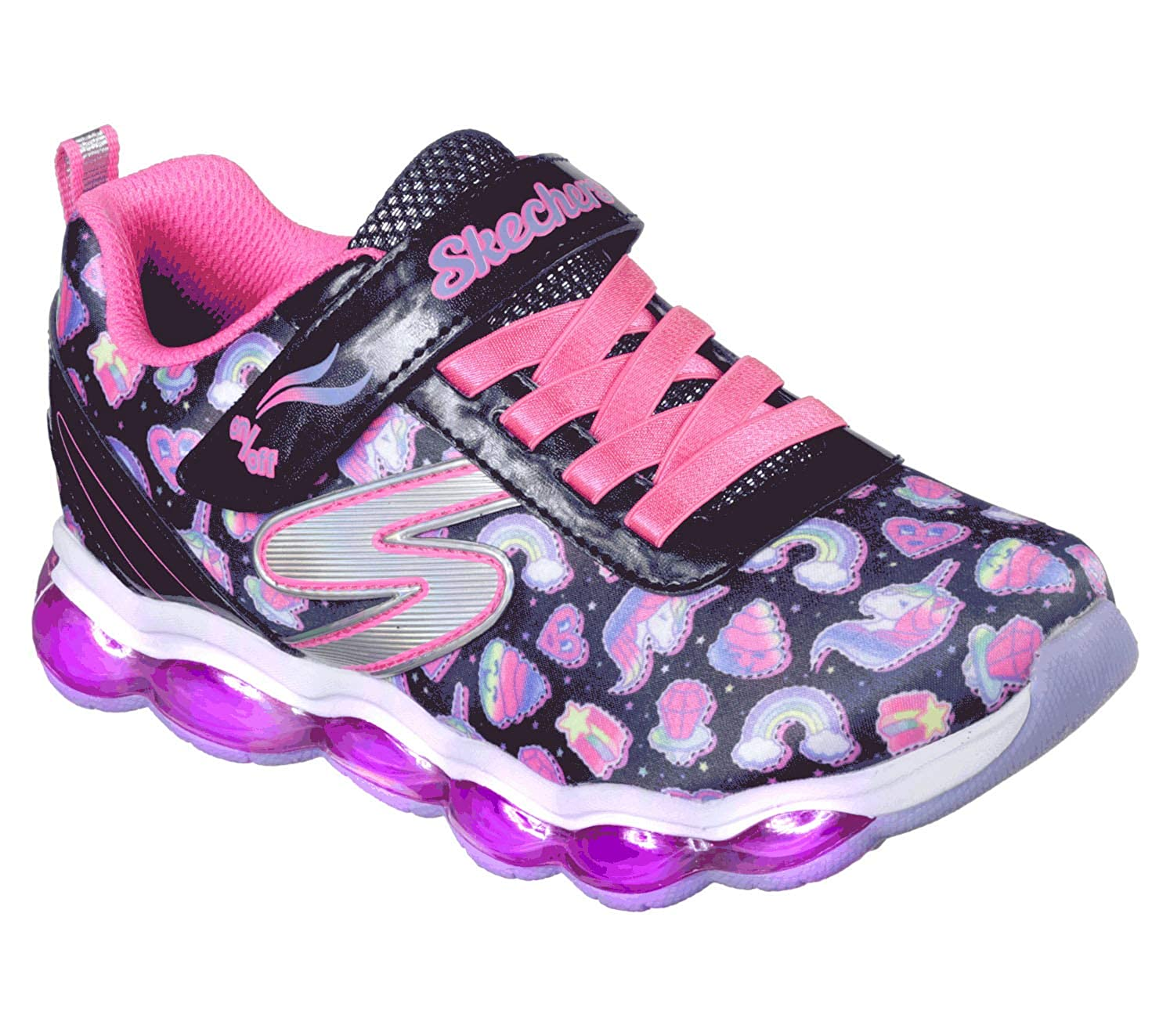 Skechers Kids' Glimmer Lights Sparkle Dreams Sneaker