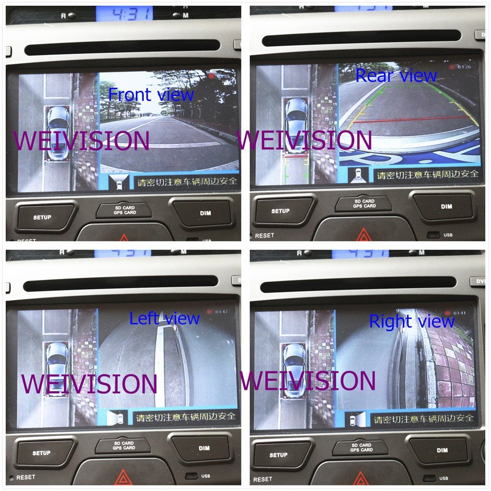 Amazon Com Weivision Universal 360 Degree Bird View Car Dvr