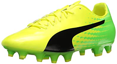 d4ded50a0db8 PUMA Men s Evospeed 17.4 FG Soccer Shoe Safety Yellow Black-Green Gecko