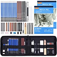 Drawing Pencils Set,52 Pack Professional Sketch Pencil Set in Zipper Carry Case,Drawing Kit Art Supplies with Graphite…