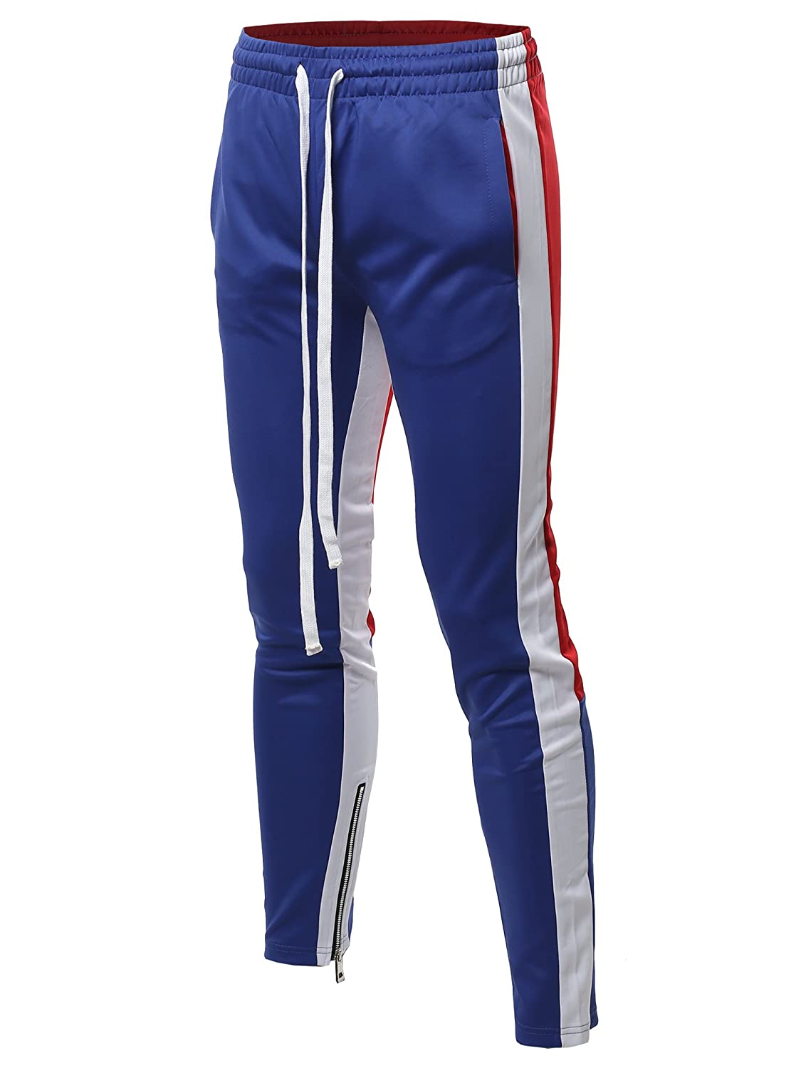 Style by William PANTS メンズ B07DRSPLY7 Large|Fsmptl0006 Royal Blue Red Fsmptl0006 Royal Blue Red Large