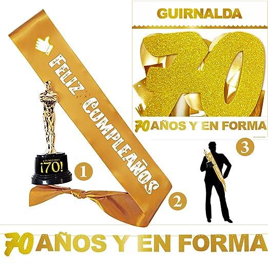 Inedit Festa - Fiesta Feliz 70 Cumpleaños - Guirnalda ...