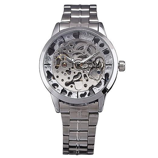 2017 Nuevo ganador oro relojes marca de lujo Moda Hombre de Automático Hollow Out hombre mecánica relojes waches Relogio Masculino: Amazon.es: Relojes