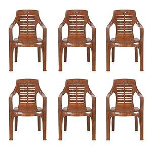 Nilkamal Patio Chair (Mango Wood, Set of 6)