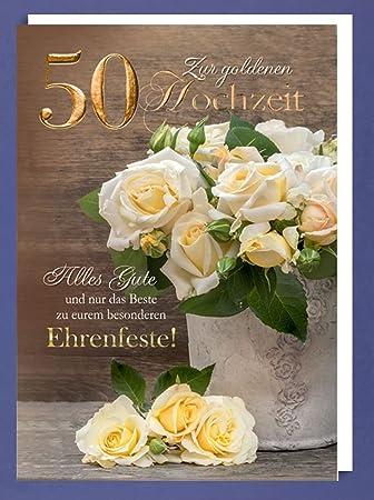 Nagelneu Riesen 50 Goldhochzeit Karte Grußkarte Goldene Hochzeit  LL55