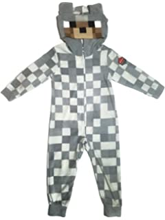 ae471d328 Minecraft Enderman Boys Union Suit Costume Pajamas 4-12 X-Large 14 ...