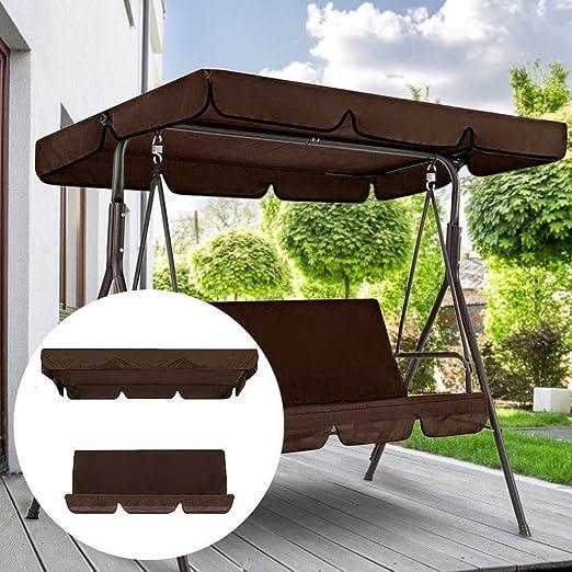Cegduyi Hutcuo - Juego de fundas de columpio para jardín y patio con columpio para hamaca de jardín, patio, columpio al aire libre, ideal para sombrilla: Amazon.es: Jardín