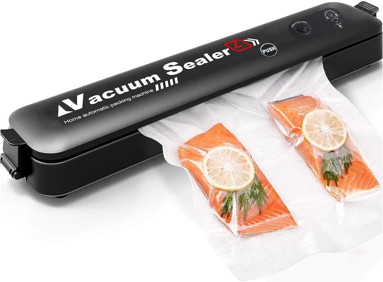AQwzh Vacuum Sealer Machine, Automatic Food Sealer for Food Savers Dry & Moist Food Modes food saver vacuum sealer machine with 15 bags