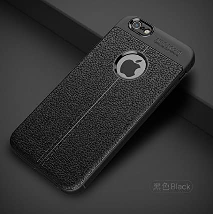 the latest 3b4ca 2c0ae CROMBIE Autofocus Soft Silicone Leather Pattern Back Case Cover for Apple  iPhone 7 (Black)