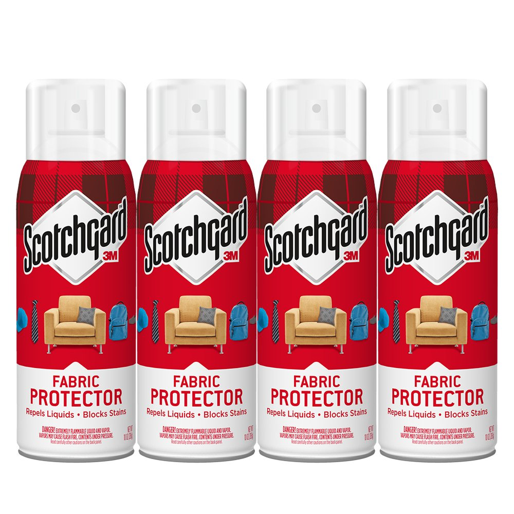 Scotchgard Fabric & Upholstery Protector, 4 Cans/10-Ounces (40 Ounces Total)