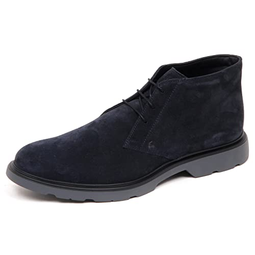 Hogan E0544 Polacchino Uomo Blu H304 New Route Derby Suede Boot Shoe Man   10   Amazon.it  Scarpe e borse e8dc1fd63b2
