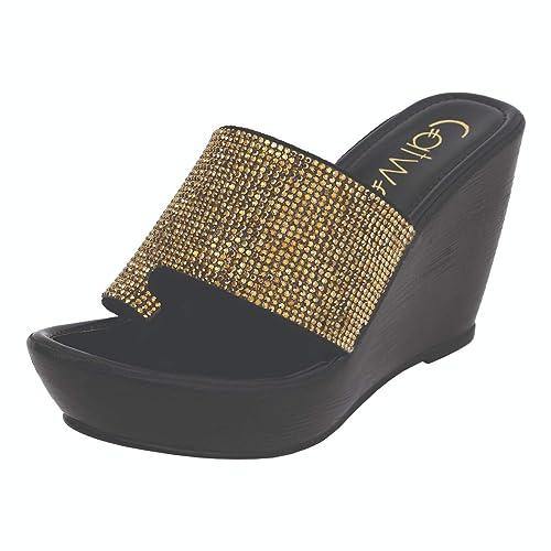 918d8bd5d8e0 Catwalk Women s Bronze Wedge Sandals Fashion 4 UK India (36 EU)(3794BX