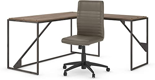 Bush Furniture Refinery 62W L Shaped Desk